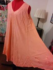"""NWT 100% Rayon FS Hippie Tent Trapeze Dress Bust 56"""" Solid Color Lrg 140"""" Sweep"""