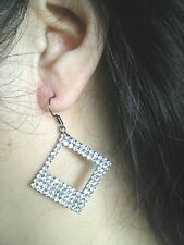Beautiful Pair of Dangle Earrings With Clear Crystal Various Styles & Patterns