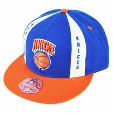 NBA Mitchell Ness HWC New York Knicks TV21 Panel Down Fitted Hat Cap Blue