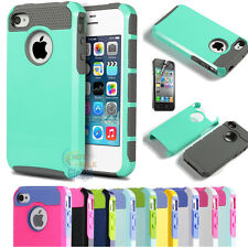 PC Shockproof Rugged Rubber Matte Hard Skin Case Cover For Apple iPhone 4 4S 4G