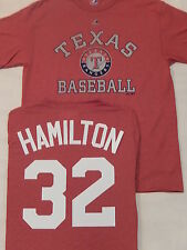 5619 MENS Majestic Texas Rangers JOSH HAMILTON Baseball Jersey Shirt RED New