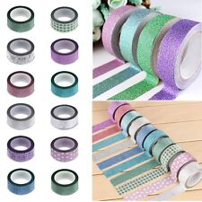 Nastro Adesivo in carta Decorativo Scrapbooking Tape Washi DIY Bling Luccichio