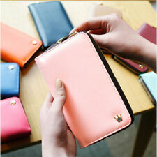 New Crown Zip Smart Wallet Purse For iPhone Samsung GALAXY Pouch 0813