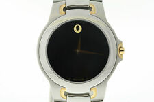 Men's Movado 0604858 Meza Two-Tone Stainless Steel Black Dial Watch