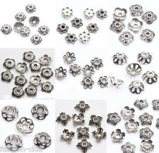 Hot 200pcs Tibet Silver Metal Loose Spacer Bead Caps Jewelry Finding 5/6/7/8/9mm