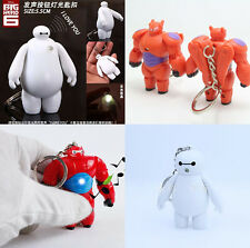 Disney Big Hero 6 Baymax Sound LED Light Flashlight Keyring Kids Toy Xmas Gift