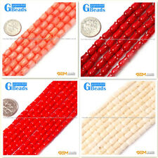 """Flower Shape Gemstone Jewelry Making Red Coral Loose Beads Strand 15"""""""