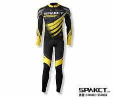 Spakct Cycling Suits Long Sleeve Long Jersey & Tights Pants Black Yellow