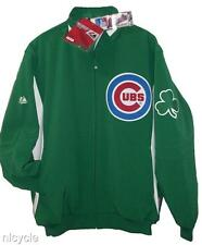 CHICAGO CUBS MLB AUTHENTIC MAJESTIC GREEN DUGOUT JACKET FLEECE LINED M L XL NWT