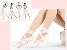 Pink Ballet Pointe Dance Toe Shoes Professional Satin Canvas Shoes Ladies GBW