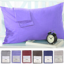 Set of 2 Pillowcases 1800 Count Pillow Case Set - Queen (Standard) or King New