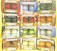 (A - L) Yankee Candle TEALIGHT CANDLES Box of 12 Tea Lights - 22 SCENT CHOICES