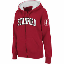 Women's Stadium Athletic Cardinal Stanford Cardinal Arched Name Full-Zip Hoodie