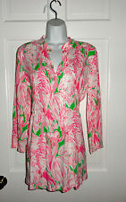 NWT LILLY PULITZER PREP GREEN PINK COLONY SARASOTA TUNIC TOP M