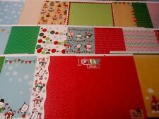 Christmas Whimsical Animals Me & My Big Ideas Scrapbook Paper 1- 12 x 12