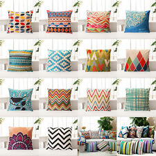 Cotton Linen Sofa Home Decor Throw Pillow Case Cushion Cover Geometry Nature New