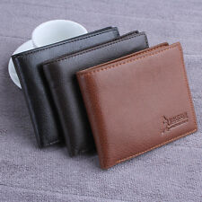 Mens Leather Wallet Card Holder Coin Purse Pockets Bifold Money Clip Wallets Hot