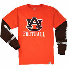 Youth Wes & Willy Orange Auburn Tigers Football Fooler Long Sleeve T-Shirt