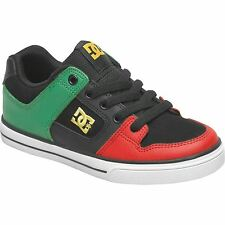 DC Kids Children Pure Skate Shoes Sports Trainers Lace Up