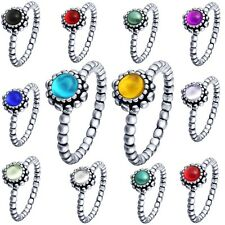 Brand Jewelry Women Fine Stones 925 Sterling Silver Filled Wedding Ring Size 6-9