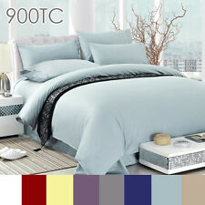900TC EGYPTIAN COTTON AUS Size Quilt Cover or Sheet Set Flat,Fitted,Pillowcases