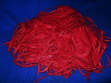 !RED DEERSKIN LEATHER!  10PC / U-PIC THE LENGTH   !CRAFTS/LACING/STRIPS/TIES!!