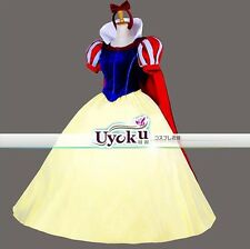 Halloween Adult Party Fancy Dress Snow white Princess Dress Cosplay Costume