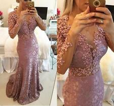 2015 Crystal Pageant Gown Formal Evening Party Ball Prom Dress Mermaid Bead Long