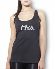 Mrs Vest Tank Top - Just Married Wedding Honeymoon Newly Weds New Wife Gift Tee