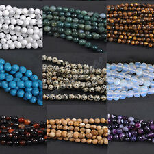 Lots 5/10/20/30/40Pcs Natural Gemstone Round Spacer Loose Beads Multi Color