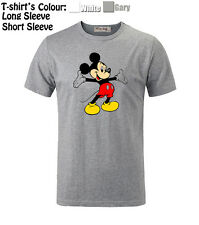 Unisex Boys Girls Disney Mickey Mouse Cute Open Arms Top Quality T-Shirt Tops