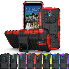 For HTC Desire 526G Rugged Armor Hybrid Case Stand Hard Protective Cover Skin