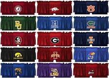 NCAA Standard And Long Drapes Valance Set College Logo Curtains - PICK YOUR TEAM