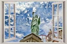 Statue Of Liberty Window View Decal WALL STICKER Decor Art Mural New York NY