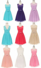 Adorable teen bridesmaid prom graduation gown flower girl evening party dress