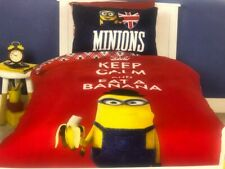 MINION Keep Calm and eat a Banana SINGLE or DOUBLE QUILT COVER SET BNIP Minions