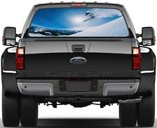 Extreme Sports Skii Rear Window Graphic Decal Sticker Car Truck SUV Skiing 310