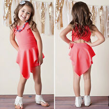 Fashion Girls Clothes Outfits Pantskirt Dresses Kids Jumpsuit Children Rompers