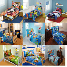 4pc Kids Toddler Size Bedding Set Childrens Boys Disney Character Bed In A Bag
