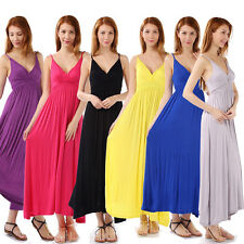 Plus Size US12-24 Women Summer Boho Long Maxi Evening Party Beach Dress Sundress