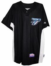 Toronto BLUE JAYS MLB AUTHENTIC MAJESTIC BLACK  JERSEY Size 46 50 52 NWT
