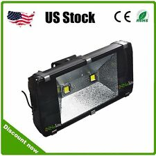200W LED 2*100W Flood Lights Waterproof IP65 Black Cool White AC85-265V Outdoor