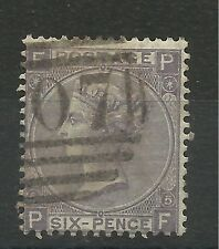 1865/7 Sg 97, 6d Lilac (PF) Plate 5, fine used.