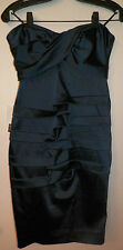 NWT Nicole Miller blue strapless pleated sweetheart neck dress sz.6- $410