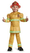 Muscle Fearless Fireman Child Boys Costume NEW Firefighter