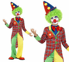 Clown Boys Fancy Dress Costume Circus Clown Outfit Ages 4-12