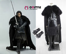 Halloween Adult Game of Thrones Cosplay Costume Jon Snow Costume Outfit Full Set