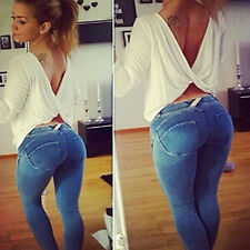 Women Sexy Skinny Leggings Jeggings Jeans Pencil Stretch Pants Tight Trousers