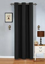 "2 Piece Grommet blackout Panel Window Curtain solid drapes- 108""x84"""