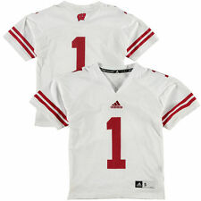 #1 Wisconsin Badgers adidas Youth Replica Jersey - White - College